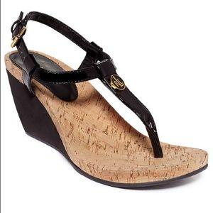 Lauren Ralph Lauren Reeta  Thong Wedge Sandals